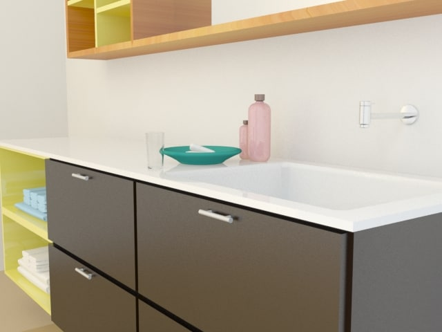 3d model soap sink wardrobe