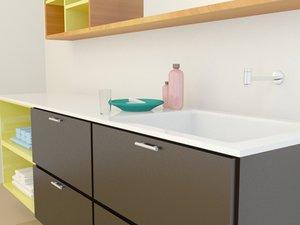 3d model soap sink wardrobe
