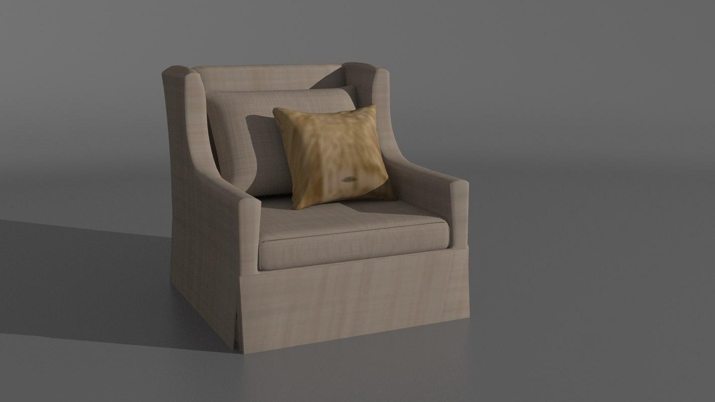 3d model chair room living