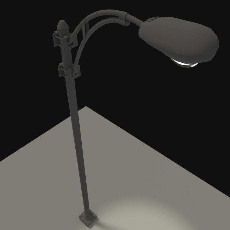 3ds overhanging street light