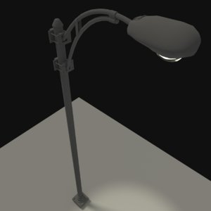 3ds overhanging street light