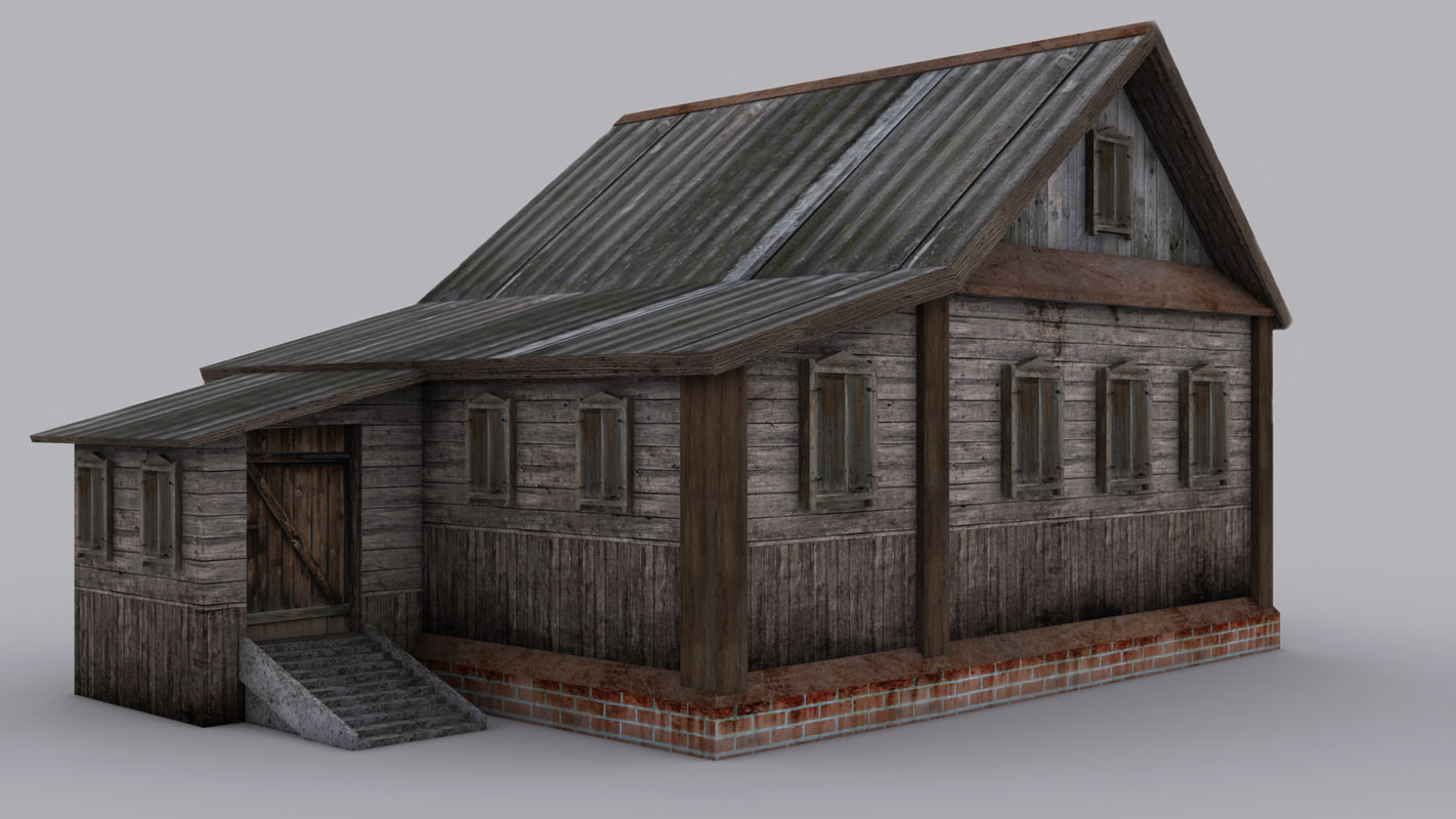 3ds max rustic old house