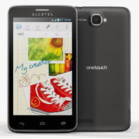 3d low-poly alcatel touch 8000d model