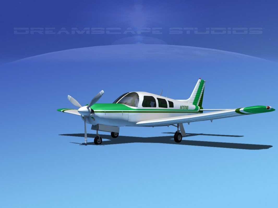 piper cherokee arrow 3d dxf