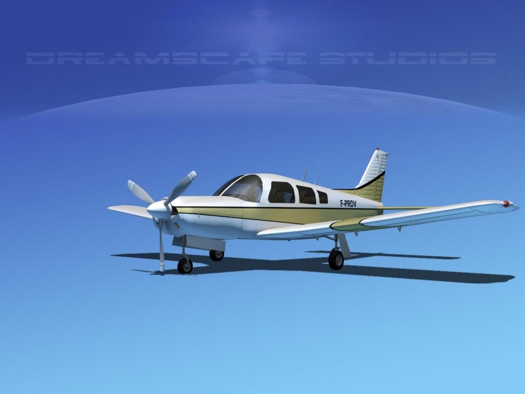 propeller piper cherokee 3d model