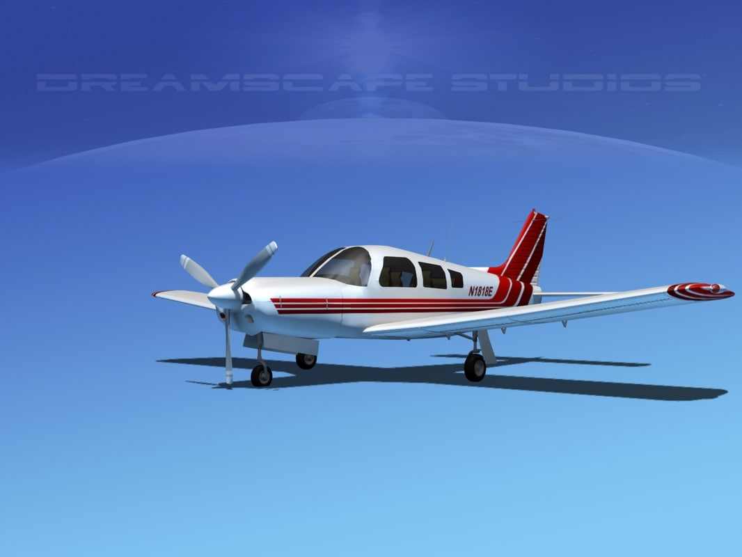 3d model propeller piper cherokee