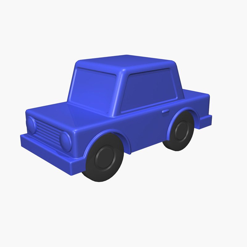 small toy car 3d model