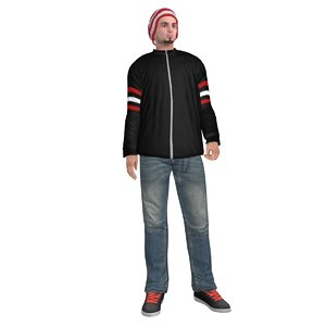 3d rigged casual man