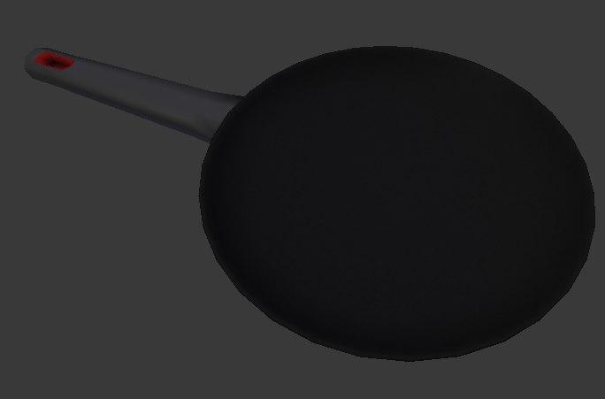 3d model of frying pan