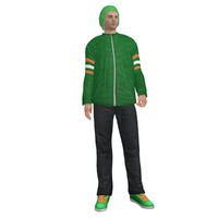 rigged casual man 3d model