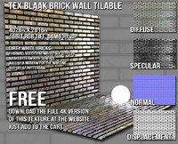 DBuzzi White Brick Wall Tilable
