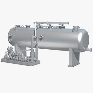 3d industrial equipment model
