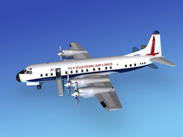 propellers l188 electra airline 3d 3ds
