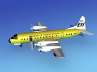 propellers l188 electra lockheed 3d obj