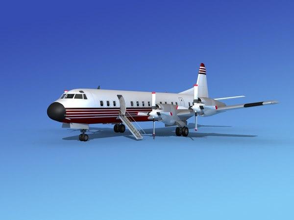 3d model of propellers l188 electra lockheed