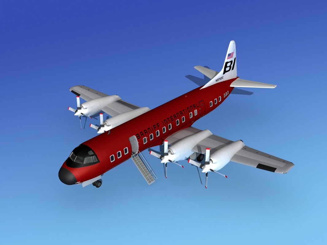 3d max propellers l188 electra lockheed
