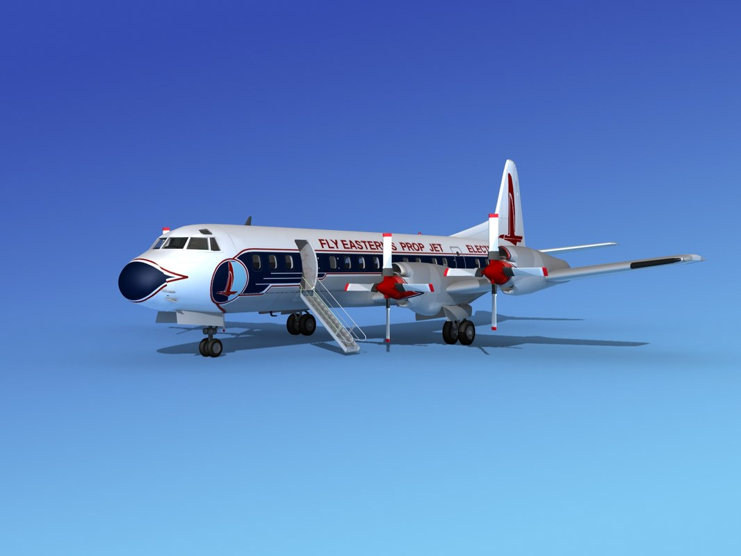 propellers l188 electra airline 3d max