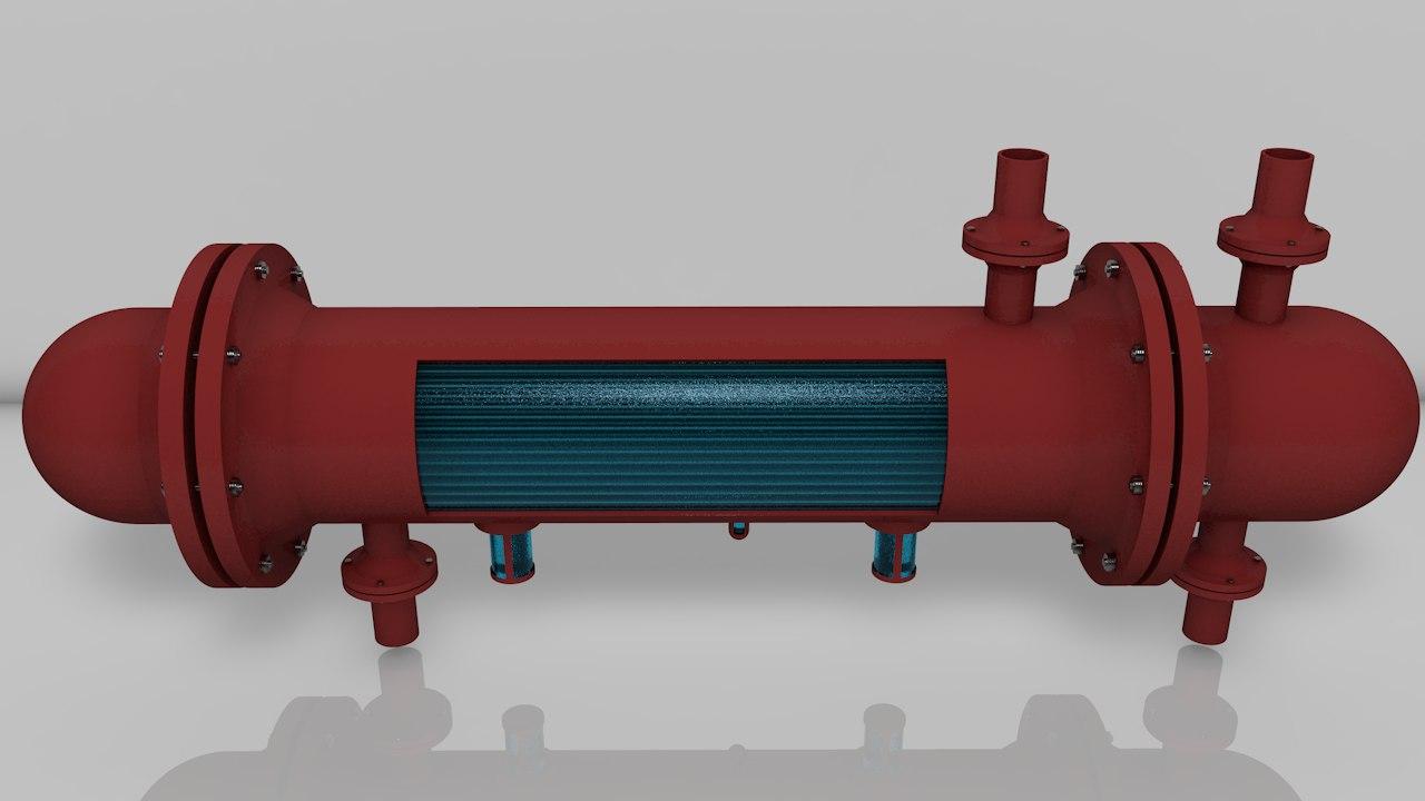 shell tube heat exchanger c4d free