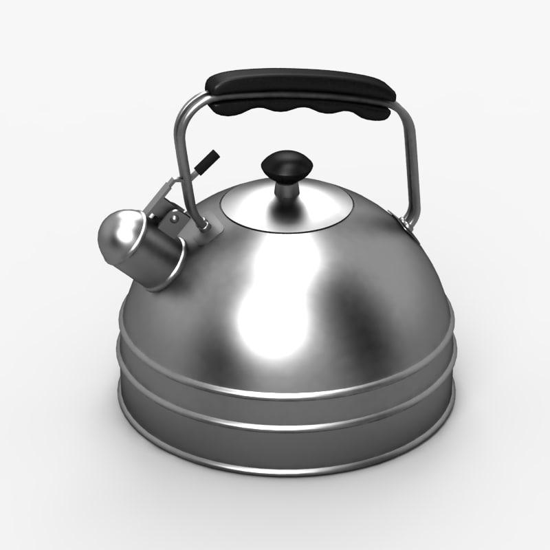 3d model kettle