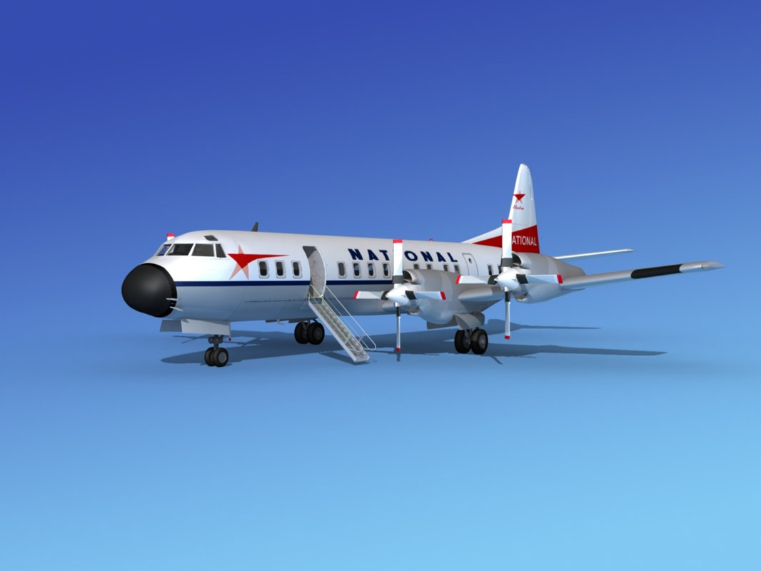 3d propellers l188 electra airline model