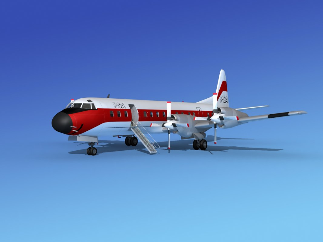 propellers l188 electra lockheed 3d 3ds