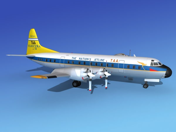 3d model of propellers l188 electra lockheed