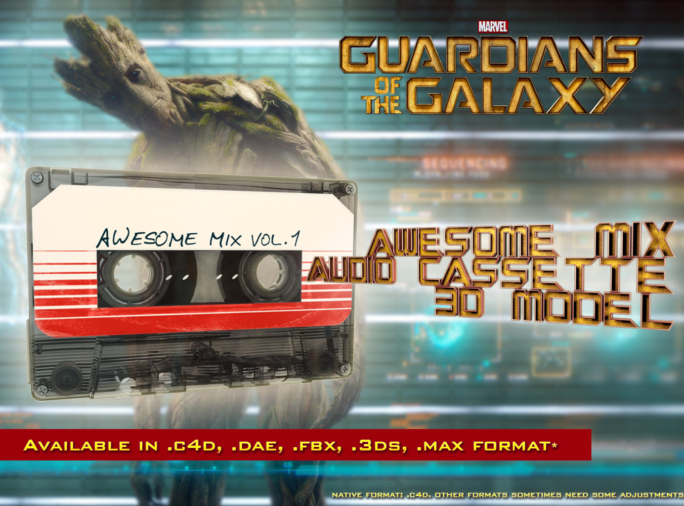 c4d guardians galaxy awesome mix