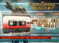 Guardians of the Galaxy awesome mix audio cassette 3D model
