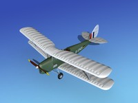 3d 3ds tiger moth dehavilland