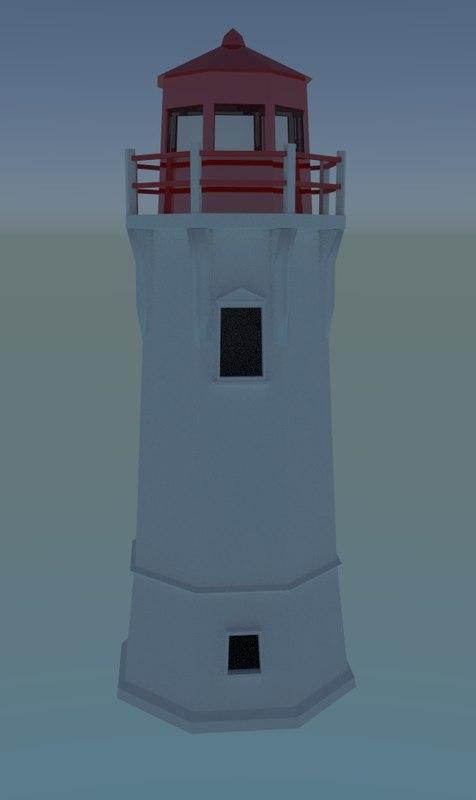 lighthouse 3d 3ds