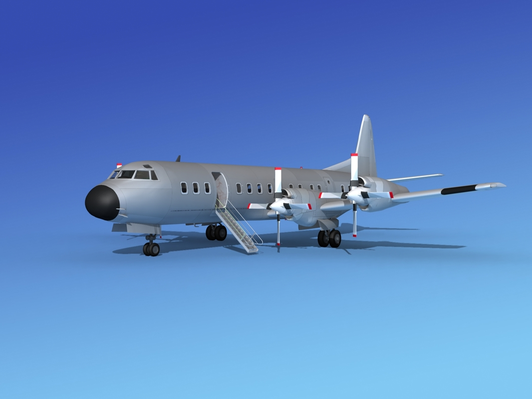 base l188 electra lockheed 3d model