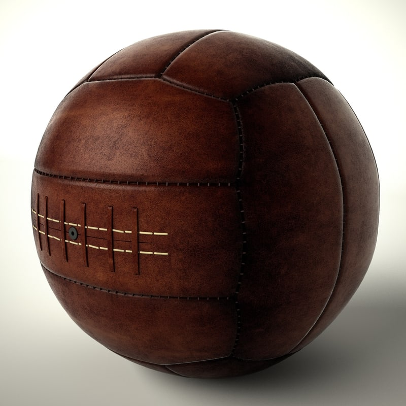 vintage soccer ball 3d model