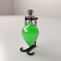 3d potion bottle model