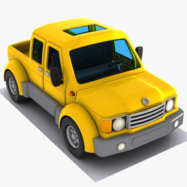 obj cartoon pickup truck