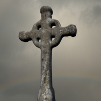 3d model ancient celtic cross