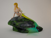 3dFoin Mermaid