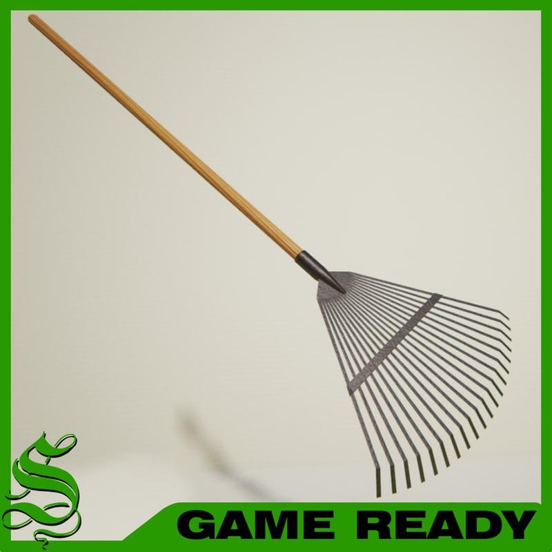 leaf rake 3d model