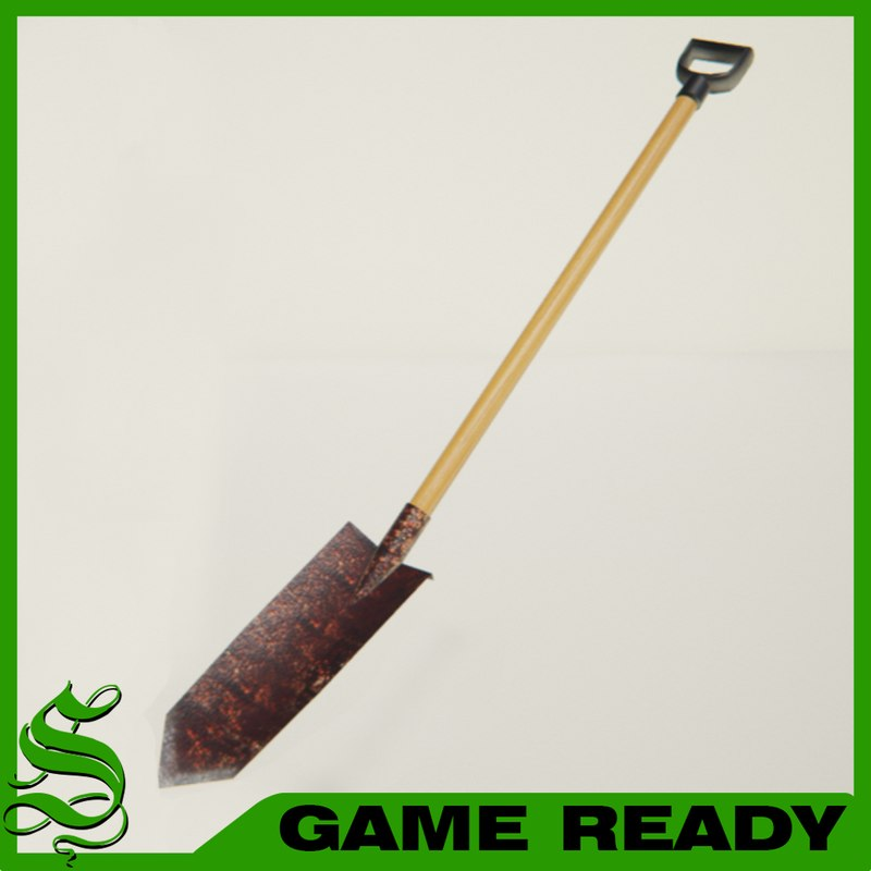 max short trench shovel