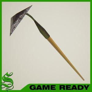 3ds max spade shovel