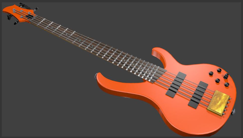 blend 5 bass guitar