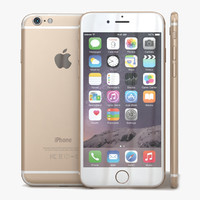 apple iphone 6 gold c4d