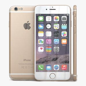 apple iphone 6 gold c4d