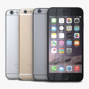 3d apple iphone 6 colors