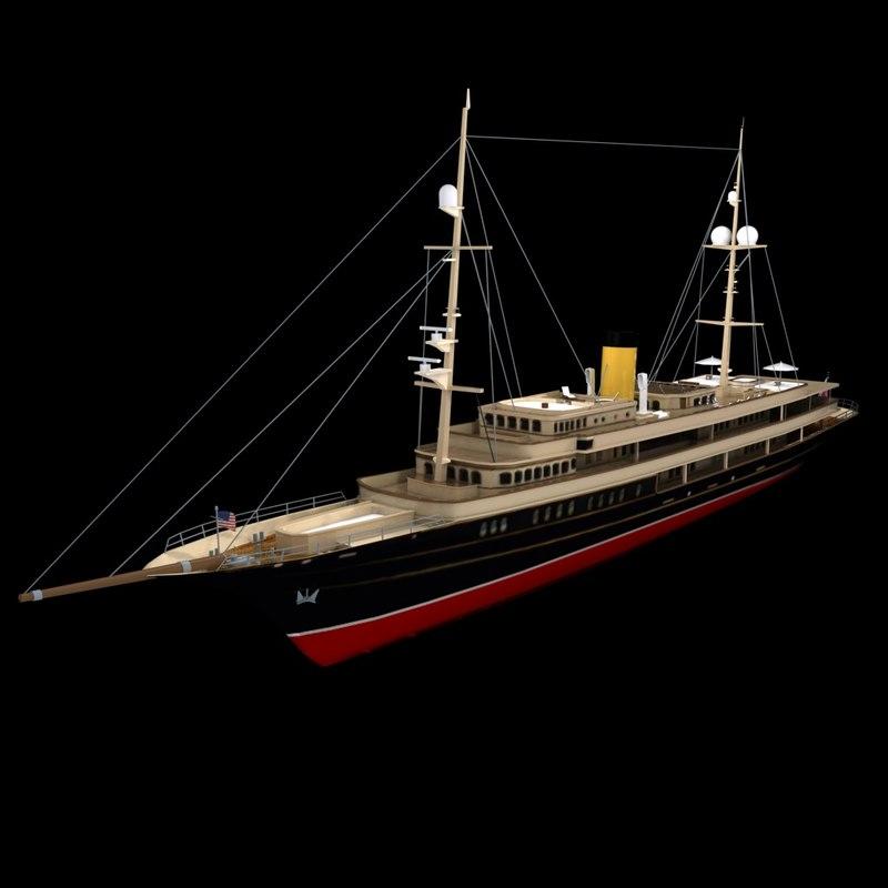 nero yachts 3d model