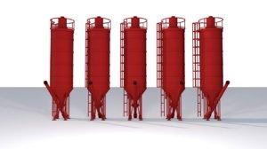 free c4d mode silos tanks storage