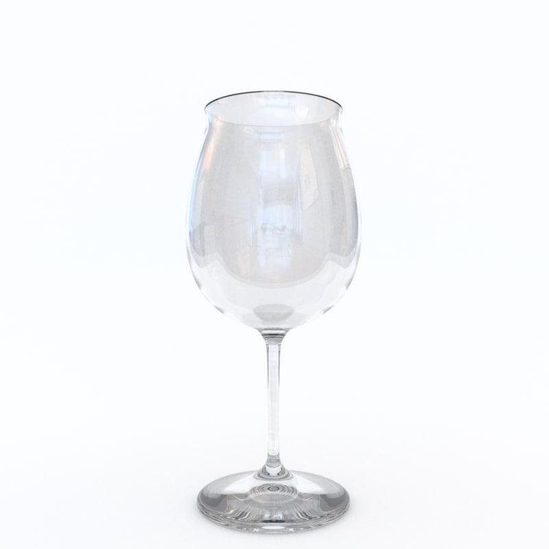 3d model burgundy red wine glass