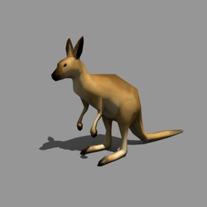 kangaroo obj