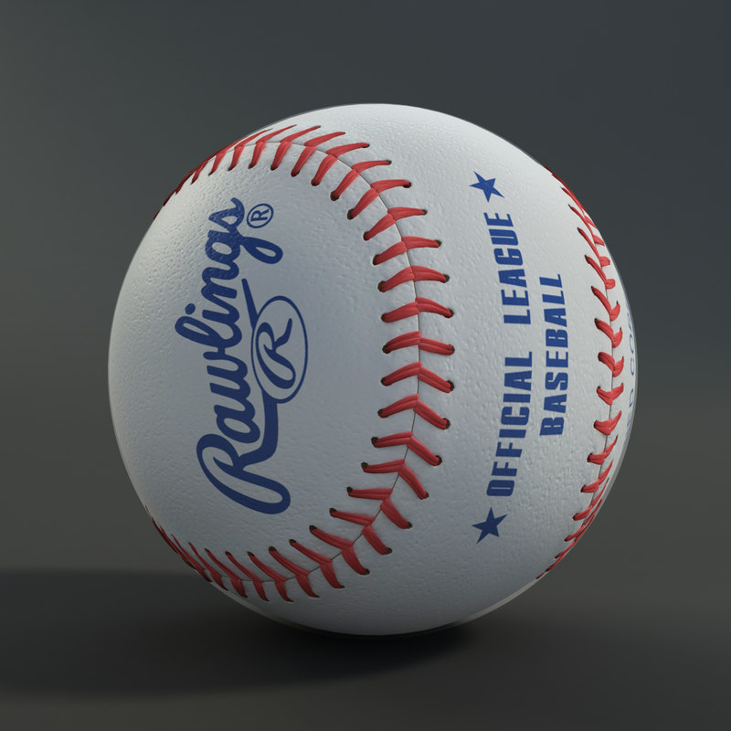 3ds max baseball rawlings