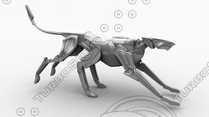 3d robotic dog model