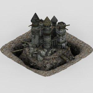 abandoned castle fantasy 3d max